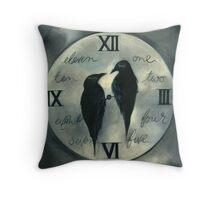 Odin's Ravens Throw Pillow
