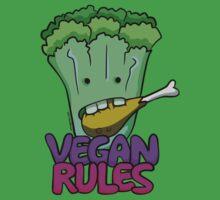 Vegan Rules One Piece - Short Sleeve