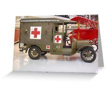 WW1 Ambulance Greeting Card
