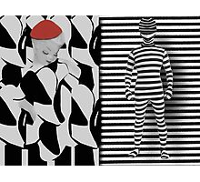 STYLISH SHAPES & PATTERNS GIRL AND GUY ..PILLOWS,TOTE BAGS,PICTURE,TRAVEL MUGS,CARDS ECT... Photographic Print