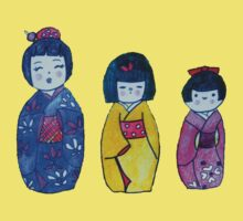 Three Kokeshi Tee by Alexandra Felgate