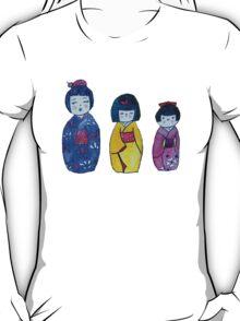 Three Kokeshi Tee T-Shirt