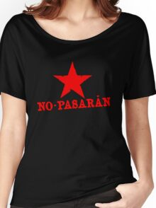 No Pasaran Red Star Slogan Women's Relaxed Fit T-Shirt