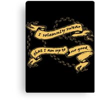 I Am Up To No Good Canvas Print