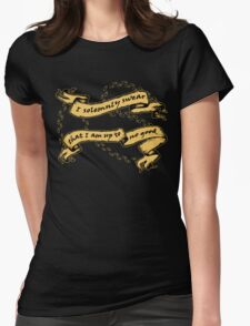 I Am Up To No Good Womens Fitted T-Shirt