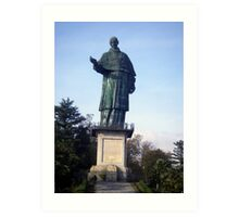 Statue of St Carlo Borromeo Art Print