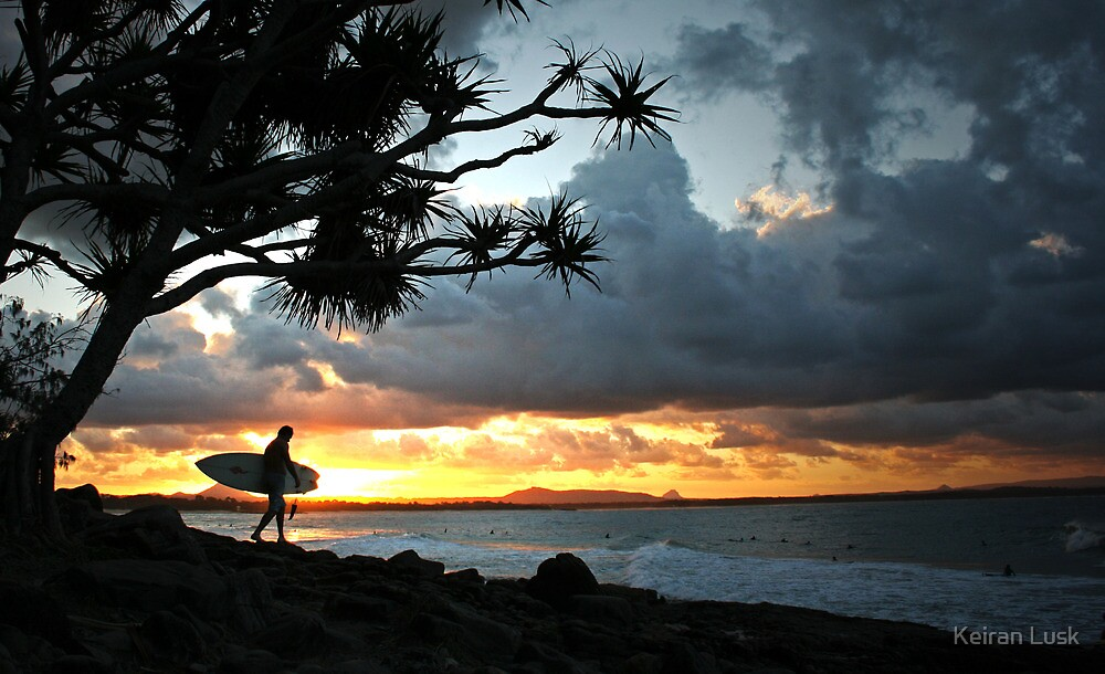 A stormy Noosa sunset by Keiran Lusk