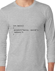 Hello World C Long Sleeve T-Shirt