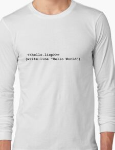 Hello World Lisp Long Sleeve T-Shirt