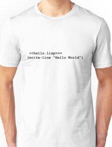 Hello World Lisp Unisex T-Shirt