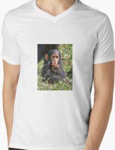 newborn Common Chimpanzee Mens V-Neck T-Shirt