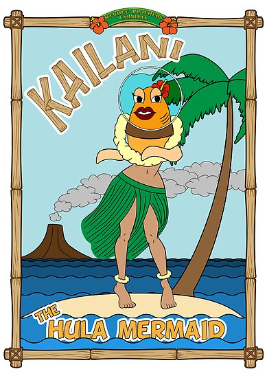 Kailani the Hula Mermaid by FlamingDerps