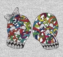 Skull Couple Color by Octavio Velazquez