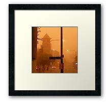 Thomas Street Dust Storm Framed Print