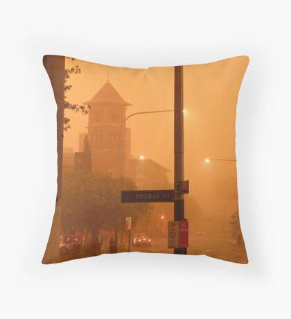 Thomas Street Dust Storm Throw Pillow