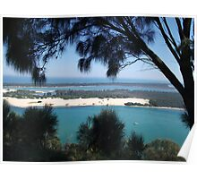 sea beyond the branches-lakes entrance, east gippsland, Victoria, Australia Poster