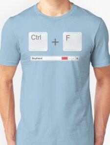 Web Developer Control Find Boyfriend T-Shirt