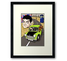 MR BEAN & DR WHO Framed Print