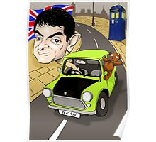 MR BEAN & DR WHO Poster