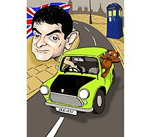MR BEAN & DR WHO Photographic Print
