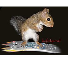 Surfer Squirrel Photographic Print