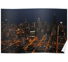 Downtown Chicago - Aerial Photography Poster