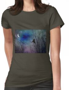 Night Flight Of Crow Womens Fitted T-Shirt