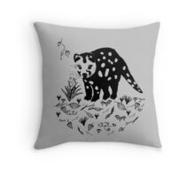 Spotted Tail Quoll- Dasyurus maculatus Throw Pillow