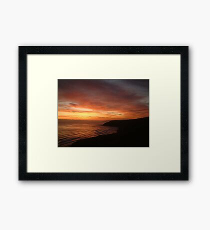 Red Sea UK Scarborough E coast Framed Print
