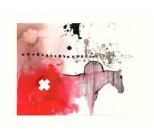 hickstead and the fescue incident Art Print