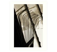 Sepia Tone Metal Rake Prongs Art Print