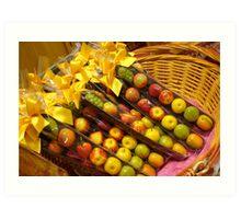 Fruit Candies in Basket Art Print