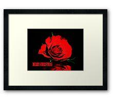 Red Rose christmas card Framed Print
