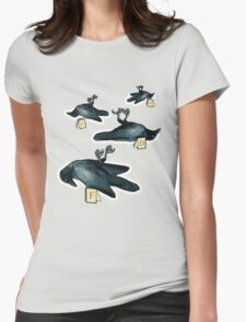 Murder Of Crows Womens Fitted T-Shirt
