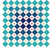 Geometric pattern vector Photographic Print