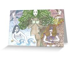 Mother Nature and her elements Greeting Card
