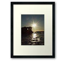 Slowly setting - Two Rocks, Western Australia Framed Print