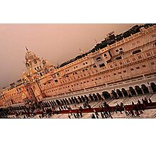Clock tower-Golden Temple Photographic Print