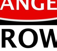 DANGER CROWS FAN FAKE FUNNY SAFETY SIGN SIGNAGE Sticker
