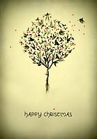 A bird in the hand - Christmas card by Colleen Milburn