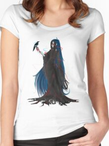 The Society Chronicles: Aeron and Crow Women's Fitted Scoop T-Shirt