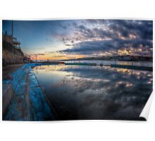 Bondi Sunset - Pool of Glass Poster