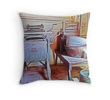 The Wash Room Throw Pillow