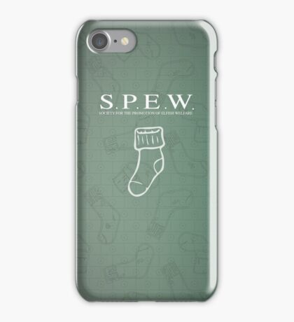 S.P.E.W Society for the Promotion of Elfish Welfare iPhone Case/Skin