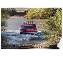 Fording the White Water River Poster