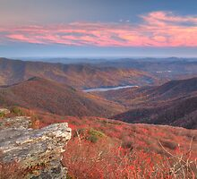 Pink Sky - Craggy Pinnacle by David Allen