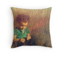 She dreams of cornsilk and honeydew kisses Throw Pillow