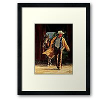 Cowboy Sunrise Framed Print