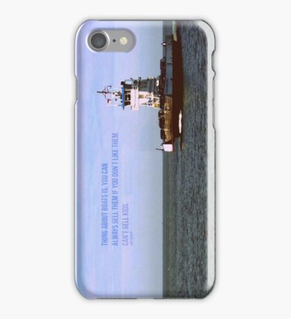 The Thing About Boats iPhone Case/Skin