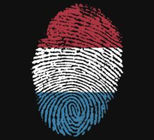 Luxembourg flag - fingerprint by BrewMasterMD